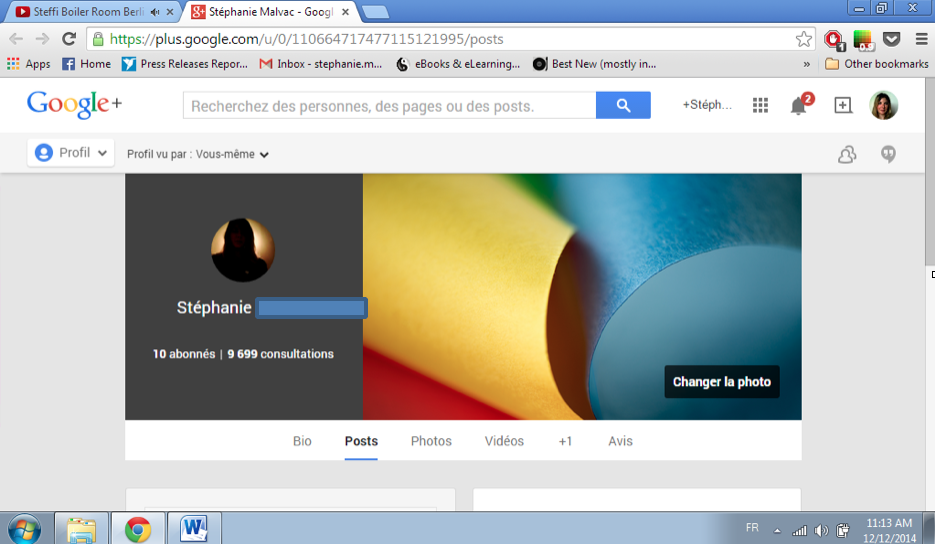 Changer sa photo de profil Youtube