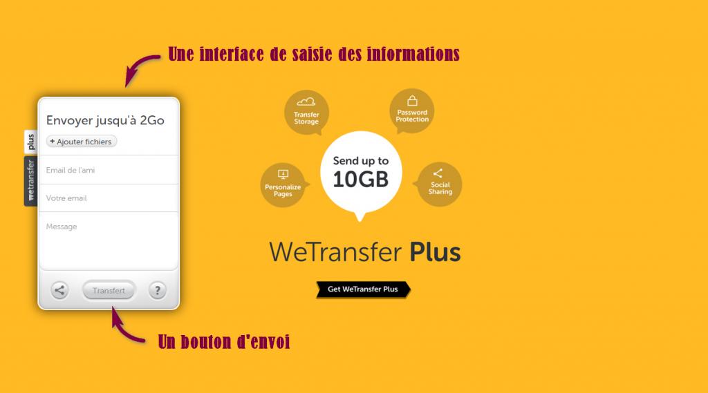 Envoyer un gros fichier avec Wetransfer