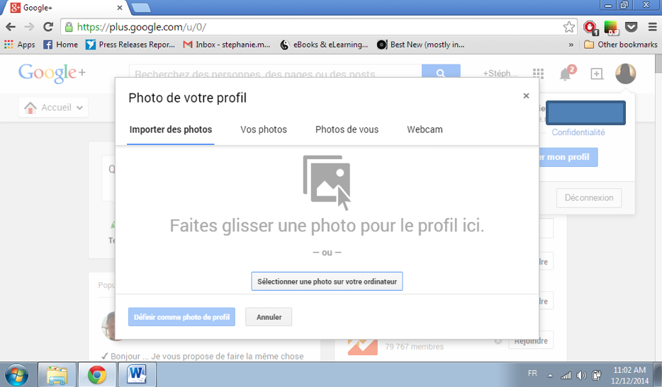 Comment changer sa photo de profil Youtube
